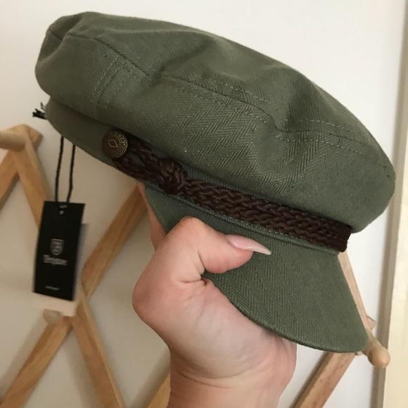 d584b6f09e854 NWT Brixton cabbie hat leather trim sz L